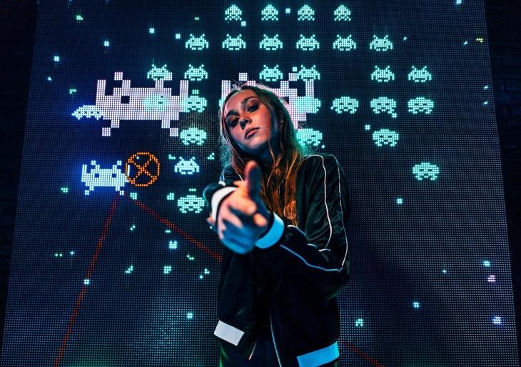 gamer at arcade